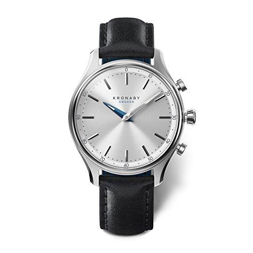 KRONABY SEKEL Herren Connected Uhren A1000-0657 eine traditionelle Uhr mit Smartwatch Funktionalitäten 38 mm Gehäusedurchmesser Saphirglas 100 M wasserdicht
