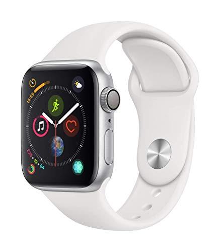 Apple Watch Series 4 (GPS, 40mm) Aluminiumgehäuse Silber - Sportarmband Weiß