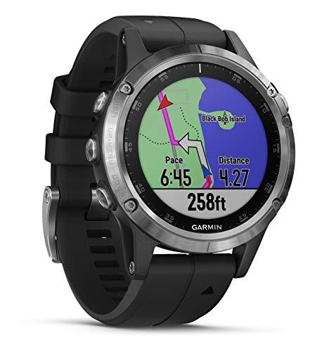 Garmin fenix 5 Plus Schwarz Multisport-Smartwatch – Europakarte, Musikplayer, kontaktloses Bezahlen