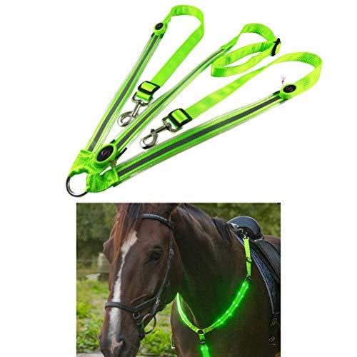 LED Pferdegeschirr,Pferdegeschirr Pferde Brustgurt Robuste und Komfortable Sicherheitsausrüstung Beste Sichtbarkeit beim Reiten für sichtbares Pferd