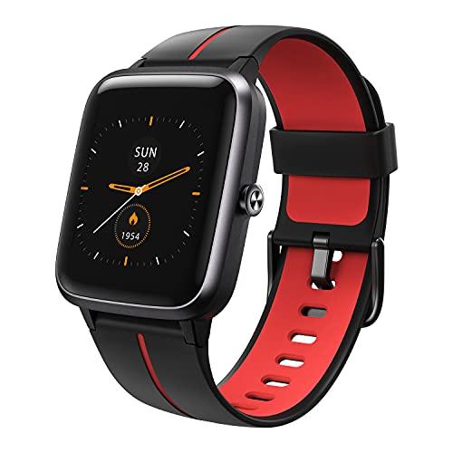 Vigorun Smartwatch GPS,Fitness-Tracker 5ATM Wasserdicht Fitness Armbanduhr,1,3 Zoll Touch Farbdisplay Fitness Armband mit Wettervorhersage Pulsuhren Schrittzähler Schlafmonitor für Damen Herren