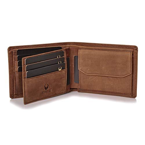 Donbolso Zürich Geldbörse Leder Herren - Geldbeutel braun - Portemonnaie für Männer mit RFID Schutz - Echtleder Portmonee