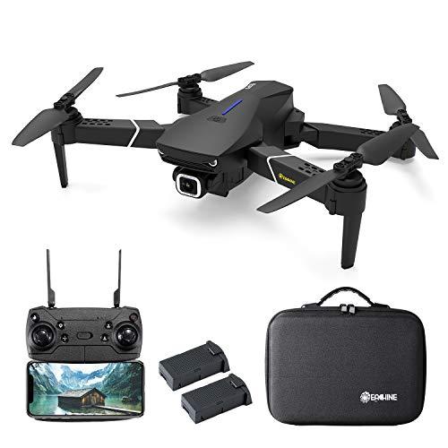 EACHINE E520S GPS Drohne mit 4k HD Kamera,5G WiFi FPV Live Übertragung,250M Reichweite,120°Weitwinkel,Follow-Me,App-Steuerung,16 Minuten Flugzeit, 2Akku&1Case-Versionen