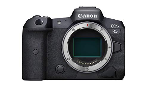 Canon EOS R5 Vollformat Systemkamera - Gehäuse (spiegellos, 45 MP, DIGIC X, 8K RAW, 4K 120p, 5 Achsen Bildstabilisator, 8,01 cm LCD II, WLAN, Bluetooth, USB 3.1, Dual Pixel CMOS AF II), schwarz