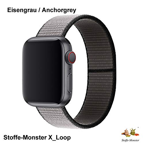 Stoffe-Monster X_Loop Watch Armband Sport eisengrau/Anchor Grey 42mm / 44mm