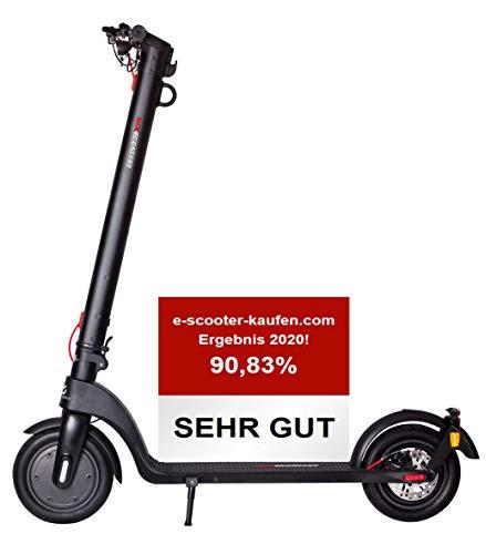 Scoot One E-Scooter E7 - mit Straßenzulassung/ABE, Herausnehmbarer Lithium-Ionen-Akku, 20 km/h, 8,5 Zoll Luftreifen, schwarz (bereits eingefüllte Pannenschutzflüssigkeit)