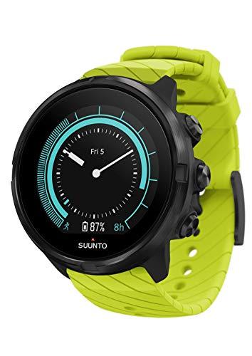 Suunto 9 Unisex Multisport-GPS-Uhr, Über 25h Batterielaufzeit, Wasserdicht bis 100m, Herzfrequenzmessung, Farbdisplay, Mineralkristallglas, Grün, SS050144000