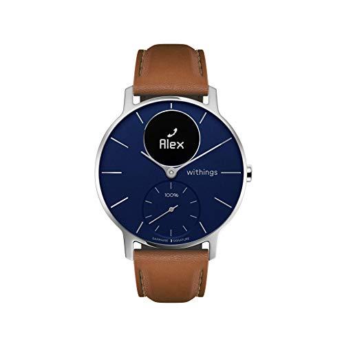 Withings Steel HR Hybrid Smartwatch - Fitnessuhr mit Herzfrequenz und Aktivitätsmessung Limited Edition, 36 mm, Blau - Saphirglas / Schwarz- Lederband