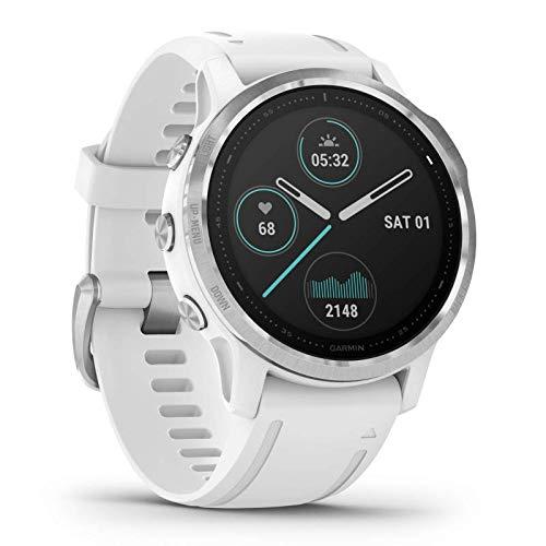 Garmin fenix 6S GPS-Multisport-Smartwatch mit Herzfrequenzmessung am Handgelenk, wasserdicht, Armband für schmale Handgelenke, lange Akkulaufzeit, kontaktloses Bezahlen