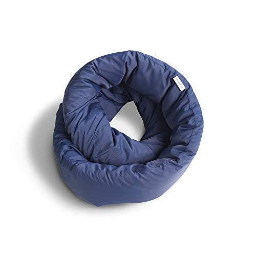 Huzi Design Infinity Pillow - Reisekissen Nackenkissen Ideal für Reise Büro Entwurf Weiches Nackenstützkissen (Marineblau)