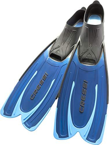 Cressi Agua - Unisex Premium Flossen Self Adjusting zum Tauchen, Apnoe, Schnorcheln und Schwimmen, Blau (Hellblau), 43/44
