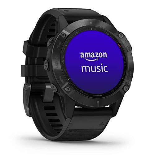 Garmin fenix 6 PRO GPS-Multisport-Smartwatch mit Herzfrequenzmessung am Handgelenk, 1,3' Display, Musikplayer, vorinstallierte Karten, WLAN, wasserdicht, kontaktloses Bezahlen, lange Akkulaufzeit