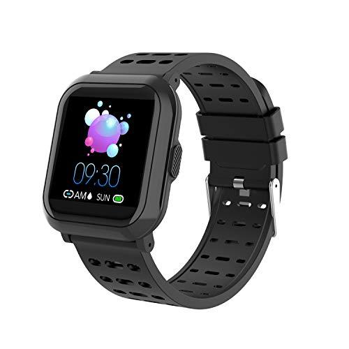 Sundaymot Smartwatch, Fitness Tracker Uhr Armband Wasserdicht IP68 GPS Sport Kalorienzähler Blutdruck Pulsuhren Bluetooth Schrittzähler Herren Damen Kompatibel für IOS Android