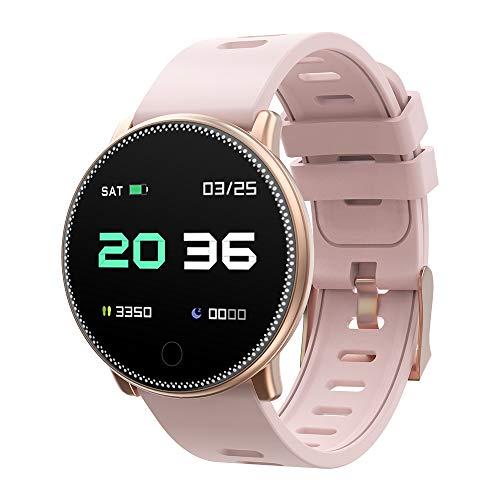 Smartwatch UMIDIGI Uwatch2 Fitness Tracker Sport Ambanduhr Smart Watch mit Facebook, Twitter, Whatsapp, Skype-Benachrichtigung kompatibles IOS und Android für Herren Damen(2 Uhrenarmbändern), Gold