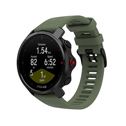 Polar Unisex– Erwachsene Grit X Outdoor Uhr, Schwarz/Grün, M/L