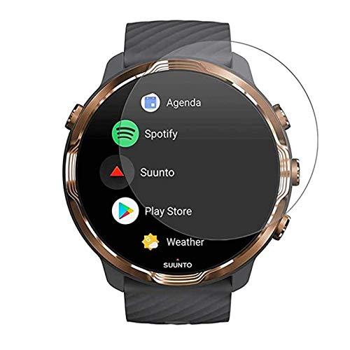 VIESUP Displayschutzfolie für Suunto 7 Smartwatch, gehärtetes Glas, HD klar, kratzfest, vollständige Abdeckung, Displayschutzfolie für Suunto 7, 2er-Pack