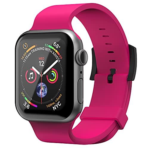 Superdry Watch Armband Kompatibel mit Apple Watch, Nylon-Gewebearmband, Bequeme, Flexible Passform, Smart Watch Armband Ideal für Sport, Fitness, Laufen, 42/44 mm Rosa
