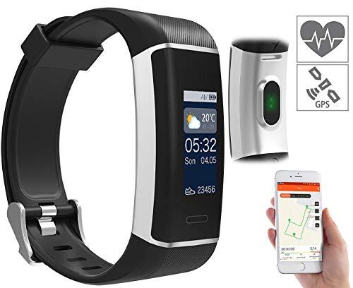 newgen medicals GPS Uhr: Fitness-GPS-Armband mit XL-Farb-Display & App für 6 Sportarten, IP67 (Smartwatch mit GPS)