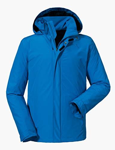 Schöffel Jacket Aalborg2, wasser- und winddichte Outdoorjacke mit verstaubarer Kapuze, atmungsaktive Regenjacke für Männer Herren, directoire blue, 54