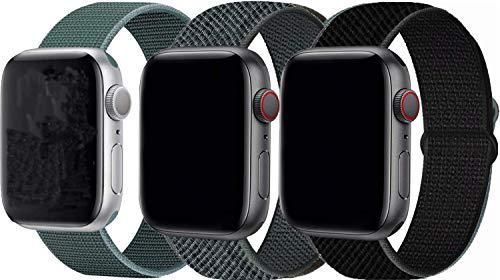 Tervoka Kompatibel mit Apple Watch Armband 44mm 42mm 40mm 38mm, Nylon Sport Armband Ersatzband für iWatch Armband Series 6/5/4/3/2/1 (42mm/44mm, 3Pack C)