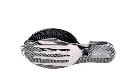 Huntington Besteckset 4-teilig (Messer, Gabel, Löffel, Flaschenöffner) grau - Mod. K544-05 DE