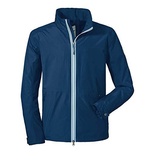 Schöffel Herren Jacket Pittsburgh3 bequeme Herren Jacke mit Sicherheitstasche, wetterfeste Übergangsjacke mit integrierter Packtasche, dress blues, 48