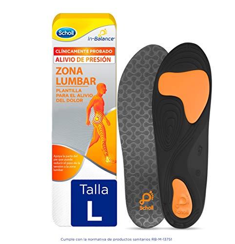 Scholl In-Balance Einlegesohlen zur Linderung von Schmerzen im Lendenwirbelbereich, 1 Paar, Größe L (42,5-45)