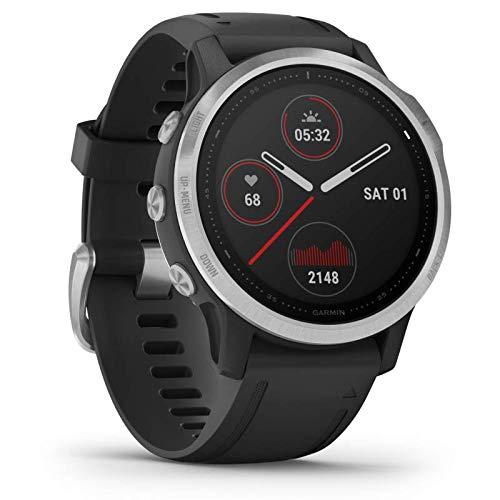 Garmin fenix 6S - schlanke GPS-Multisport-Smartwatch mit Sport-Apps, 1,2' Display und Herzfrequenzmessung am Handgelenk. Kontaktlos Bezahlen mit Garmin Pay. Wasserdicht bis 10 ATM, bis zu 9 Tage Akku