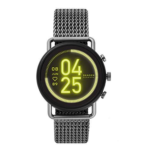 Skagen Smartwatch HR Falster 3 - Milanaise Tracking der Herzfrequenz, Google Assistant, Smartphone Benachrichtigungen, Aktivitätstracking, Google Pay und GPS
