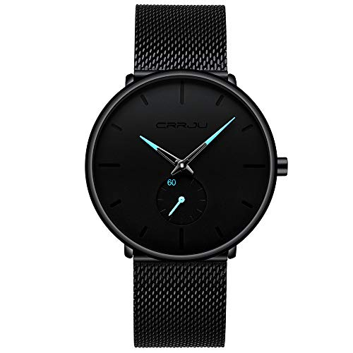 TWISFER Super Thin Armbanduhr Herren Business Uhr Black Leisure Armbanduhr Neue Herrenuhren Casual Personality Watches Modische Uhren