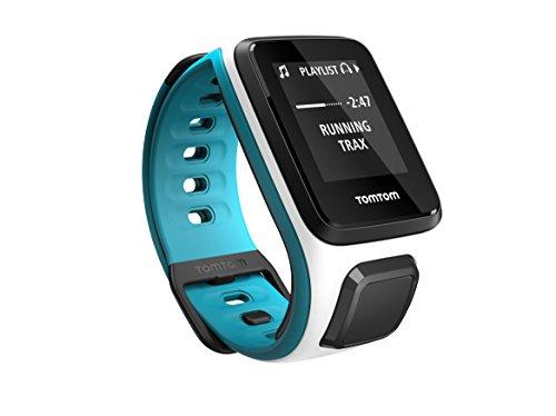 TomTom Runner 2 Cardio + Musik GPS Uhr, weiß/blau, S, 1RFM.001.03