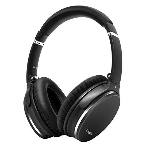Hybrid Active Noise Cancelling Kopfhörer,Faltbar,Kabellos,Bluetooth 5.0,Srhythm NC35 Over-Ear mit USB-C Schnellladung,CVC8.0-Mikrofon,Sprachanruf,40+ Std. Spielzeit für iOS Android TV PC(Gun Schwarz)