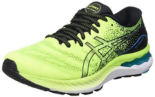 ASICS Herren Gel-Nimbus 23 Road Running Shoe, Hazard Green/Black, 44.5 EU