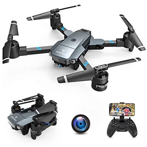 SNAPTAIN A15H Drohne mit Kamera HD 720P Faltbare Drohne FPV WLAN 120° Weitwinkel RC Quadrocopter/Kopfloser Modus/Höhehalten/3D Flip/Flugbahnflug/Sprachsteuerung/Gravitationssensor/Notlandung