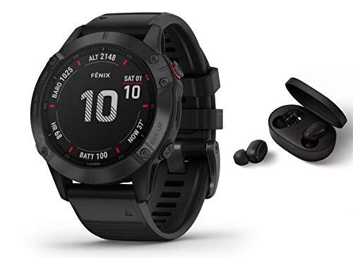 Garmin Fenix 6 PRO - GPS Multisportuhr - schwarz inkl. Bluetooth Headset