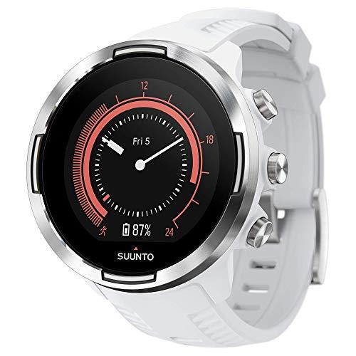 Suunto 9 Baro GPS-Sportuhr mit langer Batterielaufzeit und Herzfrequenzmessung am Handgelenk, Weiß, SS050021000