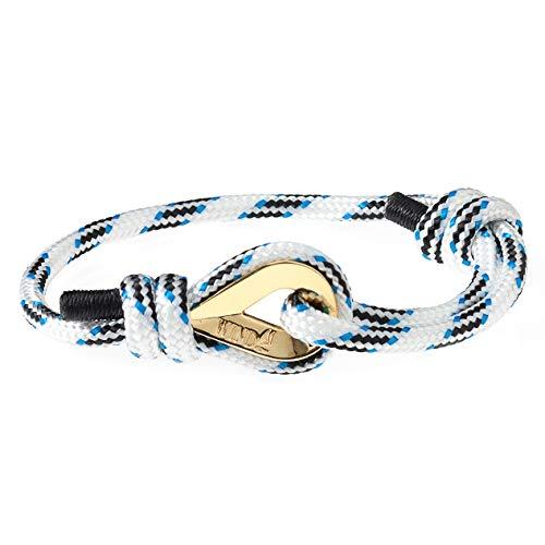 Wind Passion Höchste Qualität Nautic Seil Maritim Weiß Herren Armband