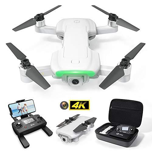 Holy Stone GPS Drohne HS510 mit 4K UHD Kamera und FPV Live Übertragung für Anfänger,RC faltbar Quadrocopter ferngesteuert mit Follow Me,Lange Fluigzeit,Return Home,Bürstenloser Motor inkl. Koffer