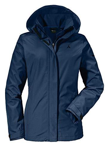 Schöffel Jacket Sevilla2, wind- und wasserdichte Outdoorjacke aus atmungsaktivem Material, leichte Regenjacke für Frauen Damen, dress blue, 38