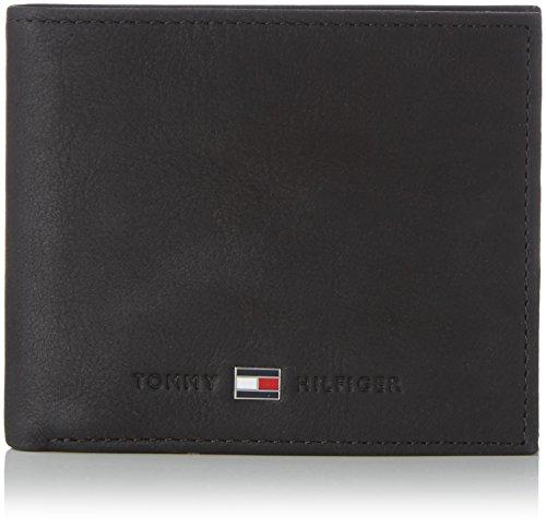 Tommy Hilfiger Herren JOHNSON MINI CC WALLET Geldbörsen, Schwarz (BLACK 002), 11 x 7 x 3 cm