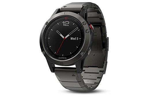 Garmin Armbanduhr 010-01688-21 GPS Smartwatch Fitness Tracker fēnix 5 Saphire grau