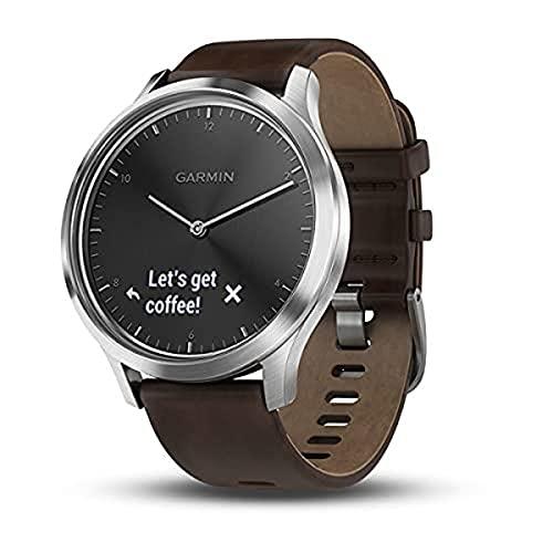 Garmin Herren HR Premium Smartwatch Vivomove, Silber, Sin Especificar