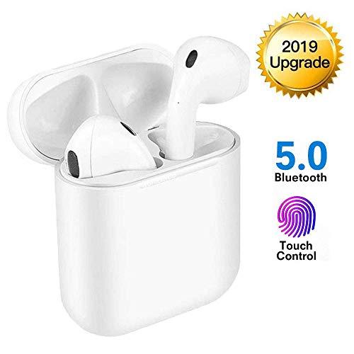 Bluetooth Kopfhörer,binaurale In-Ear-Sportohrhörer, Drahtloses Touch-Bluetooth Noise-Cancelling-Kopfhörer,Popup-Fenster mit Echtzeit-Display,kompatibel mit Apple Airpods Android/iPhone.