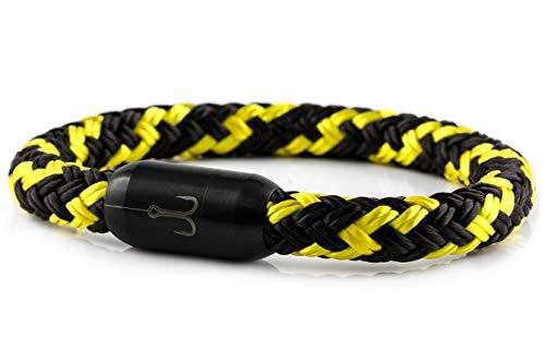 Fischers Fritze® Segeltau Armband TORPEDOMAKRELE 2.0' schwarz gelb, 22.0