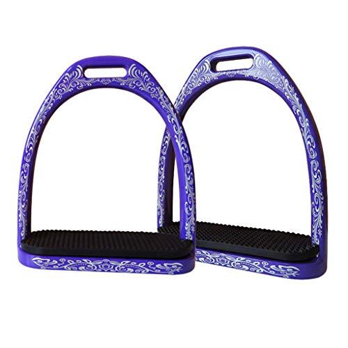 Toygogo 1 Paar Pferd Steigbügel Reiten Sicherheitsbügel Reitbedarf Zubehör - Lila