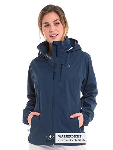 Schöffel Damen Jacket Neufundland4 wind- und wasserdichte Damen Jacke mit Pack-Away-Tasche, dress blues, 38