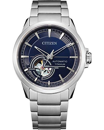 Citizen Herren Analog Automatik Uhr mit Super Titanium Armband NH9120-88L