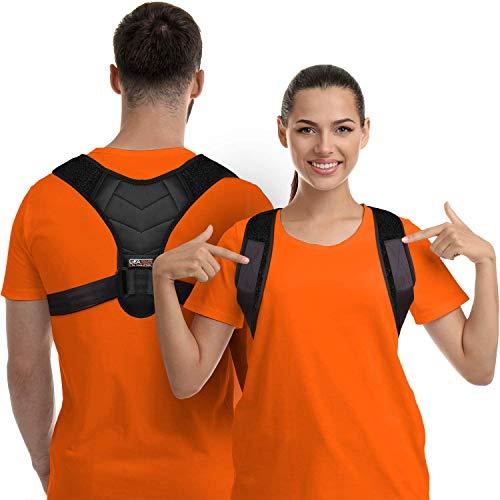 Haltungskorrektor für Männer und Frauen - Oberer Rückenstrecker mit verstellbarer, atmungsaktiver Schlüsselbeinstütze - wirksam bei Nacken-, Rücken- und Schulterschmerzen - Lendenwirbelstütze (Unisex)