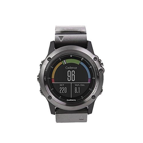 Garmin fenix 3 GPS-Multisportuhr, diverse Navigations- und Sportfunktionen, GPS/GLONASS, 010-01338-26