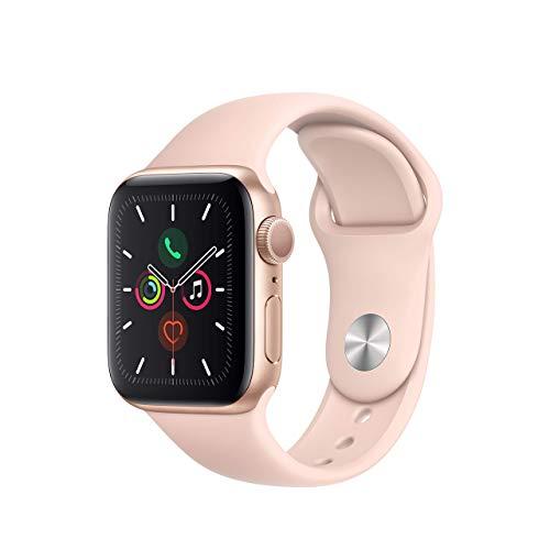Apple Watch Series 5 (40mm, GPS) - Aluminiumgehäuse Gold Sandrosa Sportarmband (Generalüberholt)